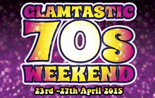 Save £35 per person for the The Glamtastic adult music weekend