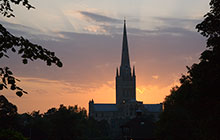 Norwich Cathedral Sunset Norfolk